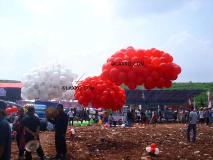 sedia balon pelepasan acara, balon peresmian gedung, sedia jasa tiup balon helium, tiup balon hidrogen lateks, sedia balon latex karet helium, jual balon pesta, balon karet warna warni, sedia balon pesta